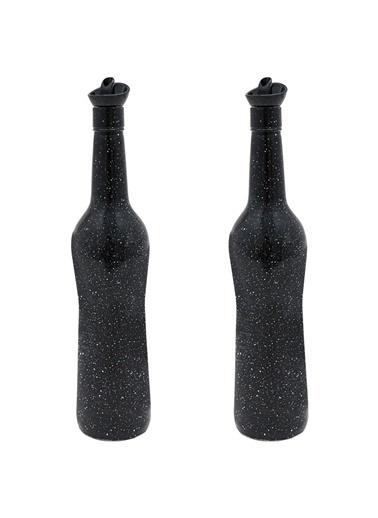 Herevin Herevin 155100 Mermer Desen Siyah 2li Yağlık-Sirkelik 700 Cc Renkli
